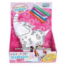 Stuffed Elephant Educational DIY Washable Coloring Toy