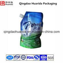 Custom Printed Plastic Spout Pouch for Liquid Laundry Detergent