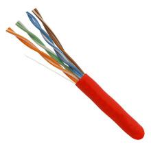 China Made preço de fábrica UTP Cat5e cabo LAN 1000FT vermelho