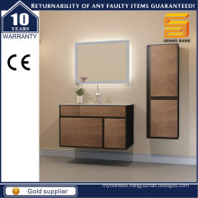 MDF Melamine Mixed Lacquer Bathroom Vanity with LED Backlit Mirror