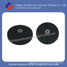 Permanent Neodymium Pot Magnet with Rubber Coated