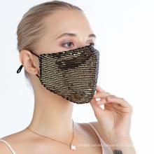 Custom Decorative Bling Bling Rhinestone Luxury Party Mask