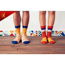 Versión coreana del pequeño fresco algodón calcetines de hombre y mujer pareja color caramelo amor calcetines Jacquard fabricante venta por mayor