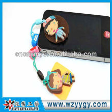 New custom cute dust plug with cleaner for promotion from factory