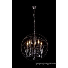 Restoration Iron with Crystal Pendant Lamp Chandelier (8774-5)