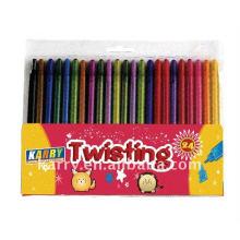 24 colores crayones de cera