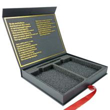 Caja cosmética de empaquetado de papel magnético personalizado de lujo