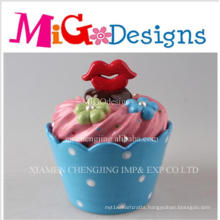 Customized Design Mouth Lid Cupcake Candy Canister