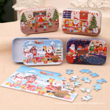 Christmas wooden diy small gift children's handmade Santa Claus puzzle kindergarten gifts prize