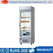 Comercial de vidrio Puerta Vertical Display Refrigerador Congelador