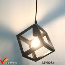 Fontes de iluminação pingente de metal industrial preto vintage
