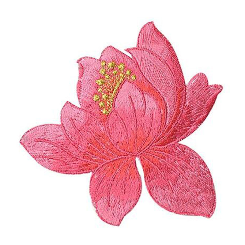 Cute Lotus Applique Clothing Embroidery Patches