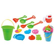 Sommer Eimer spielen Set 12 Stück Kunststoff Spielzeug Sand Strand (10214347)