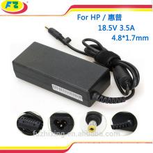 Adaptador 18.5V 3.5A del ordenador portátil para la fuente de alimentación del hp banco de la energía 65W para el hp hecho en China