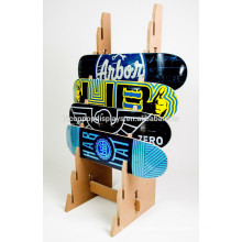 Sports Gear Store Display Fixture Custom Size Solid Wood 8-Layer Retail Skateboard Display Rack