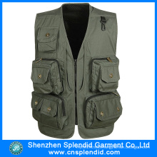 High Quality Wholesale Cheap Green Navy Motorcycle Vest for Men