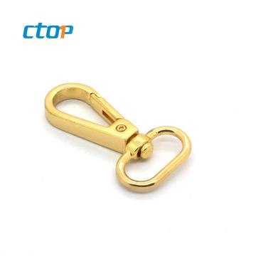 Custom handbag hardware Light gold lanyard purse hook metal snap hook dog hook