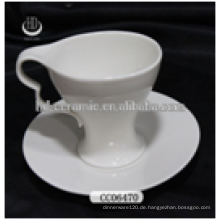 Keramik-Kaffeetasse mit Untertasse, kundenspezifische Keramik-Teetasse und Untertasse, Keramik-Tasse und Untertasse mit Logo