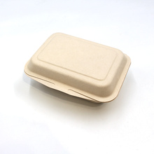 bagasse lunch box biodegradable  fast food box for wholesale