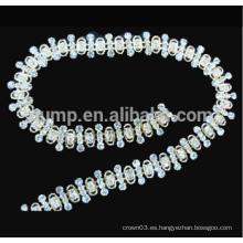 Cristal claro cadena cadena rhinestone