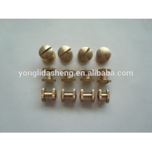 2016High quality hardware accessories of two heads plating metal screw