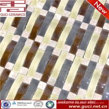 новый продукт смешанной прокладки кристалл стеклянная мозаика плитка в магазине украшения