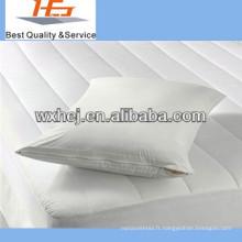 Protecteur d'oreiller bon marché d'hôtel de coton blanc / couverture de pilow
