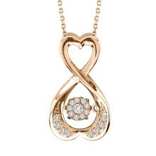 Joyería del diamante del baile del oro de Rose 925 colgantes de plata