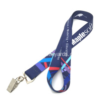 Heat Transfer Polyester Lanyards with Bulldog Clip