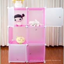 Lagerregal für Spielzeug, 3-lagiger Aufbewahrungsschrank (FH-AL0023-6P)