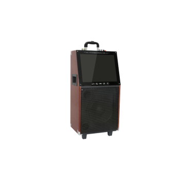 Daya tinggi kayu isi ulang Led Display Trolley Speaker