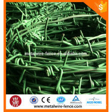 PVC coated barbed wire length per roll