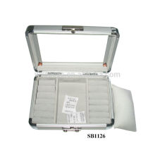 aluminum watch boxes for 2 watches and ring,studs,pendants