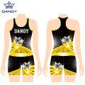 Shining Girl Ärmellose Warm Up Wear Cheerleading Uniformen