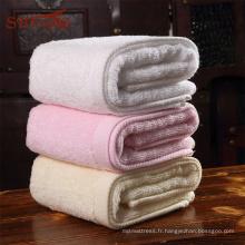 Maison colorée et yoga utilisé serviette de bain en coton égyptien