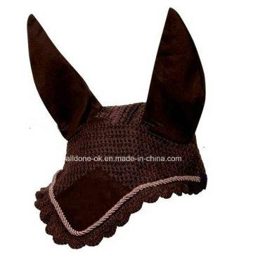Exquisite Bling Crochet Champion Fly Coach Veil Mask Bonnet