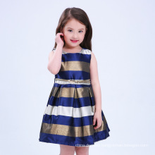 2017 Trending Products Wide Stripe Frocks Design For Girls With Price Party Girl Dress Baby Girl Dress Prices