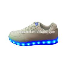 new LED lights shoes sneaker shoes LED PU leather sport shoe