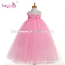 2017 nueva moda coreana una pcs desgaste del vestido tutú de color rosa vestido de tutú profesional hinchada para bebés niñas rendimiento