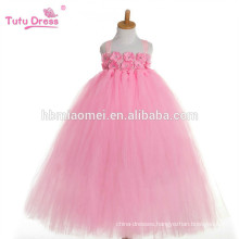 2017 new fashion korean one pcs dance wear tutu dress pink color puffy professional tutu dress for baby girls performance