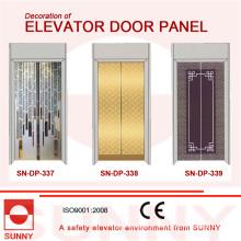 Painel de porta em aço inoxidável Hiarline para decoração de cabine de elevador (SN-DP-337)