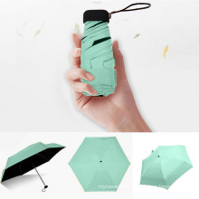Sun Rain Women Flat Lightweight Parasol Folding Sun Mini Umbrella Small Size Easily Store Parasol