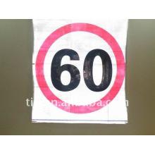 Placa de sinal de trânsito