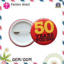 Wholesale Metal safety Pin Back Advertising Promotions Tin Button Badge