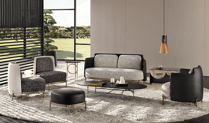 Tape-Chair-Sofa-and-Ottoman-by-Minotti