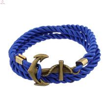 2018 Fashion Alloy Punk Rock Marine Wind Multilayer Twining Anker Armband für Männer