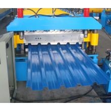 Galvanisierte Stahl-PLC Panasonic-Doppelschicht-Dach-Blatt-Rolle, die Maschine bildet