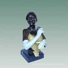 Busts Brass Statue Singer Decoration Bronze Sculpture Tpy-486c
