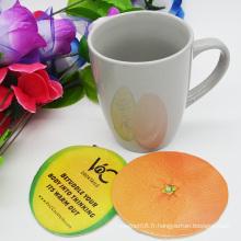 OEM Wholsale Absorbent Paper Coaster Cup Mat pour Catuaba Drink