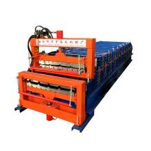 rouleau de double couche formant la machine / l'équipement pour la fabrication de la tôle de toiture en métal faisant la machine
